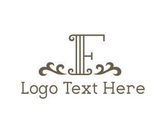 Letter F - Vintage Letter F logo design