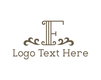 Text - Vintage Letter F logo design