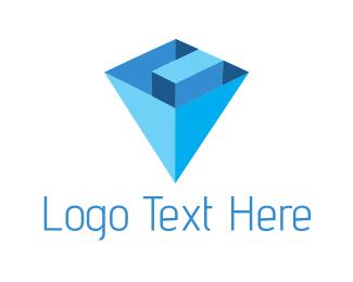 Pyramid - Diamond Letter C logo design