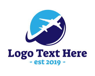 Travel - Jumbo Airplane logo design