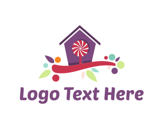 Lollipop - Candy House logo design