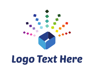 Jewelery - Colorful Blue Box logo design