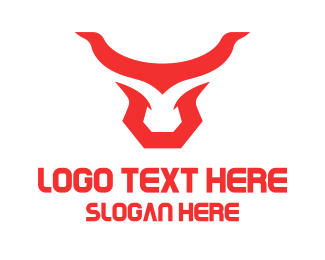 Southern - Abstract Red Horns logo design