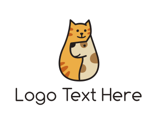 Pet Sitting - Cat & Dog logo design