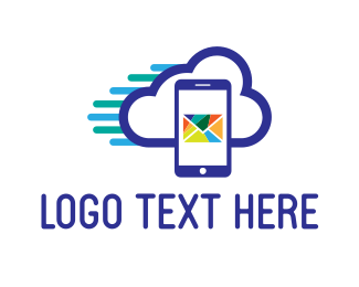 Smartphone - Mail Cloud logo design
