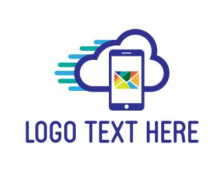 Email - Mail Cloud logo design
