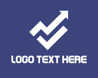 Increase - White Arrow logo design