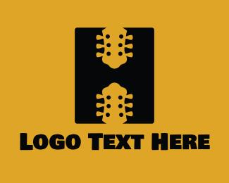 Band - Guitar Letter H logo design