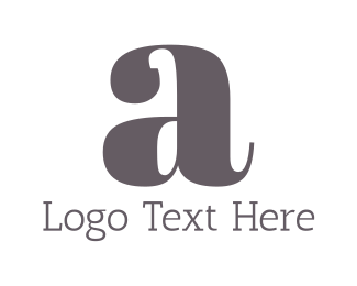 Gray - Letter A logo design