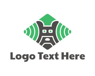 Signal - Dog Radar logo design