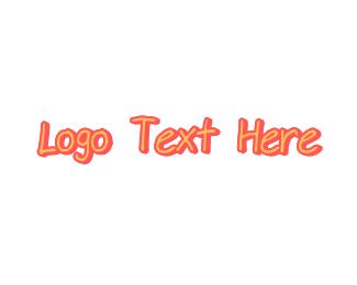 Handwriting - Pink Handwriting logo design