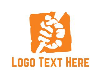 Politics - Orange Fist  logo design