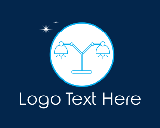 Moonlight - Moon Lamp logo design
