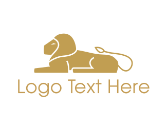 Private - Golden Lion logo design
