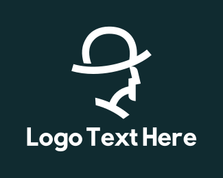 Head - White Hat logo design