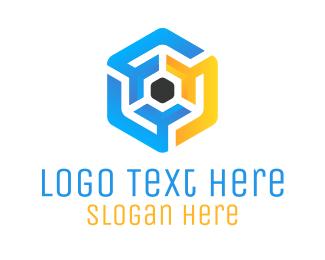 Maze - Hexagonal Maze logo design