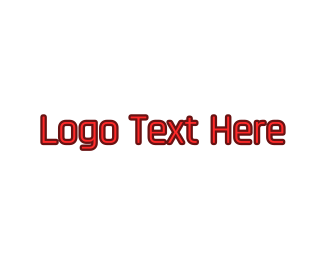 Wordmark - Red Modern Wordmark logo design