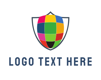 Grid - Colorful Shield logo design