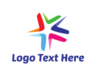 Group - Colorful Star logo design