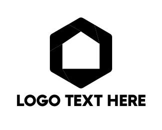 Hexagonal - Home & Lens logo design