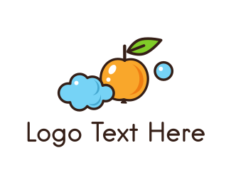 Pumpkin - Cloud & Orange logo design