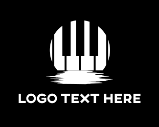 Keyboard - Moon Piano logo design
