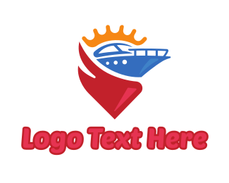 Gps - Boat King logo design