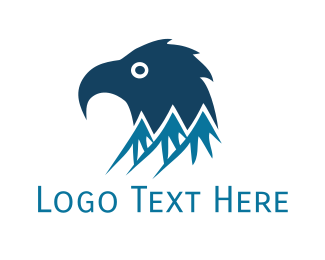 Skiing - Blue Mountain Eagle logo design
