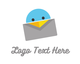 Post - Bird Letter logo design