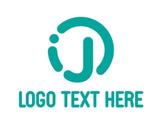 Letter J - Rounded Teal J logo design
