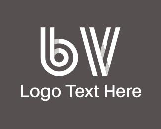 Alphabet - B & V logo design