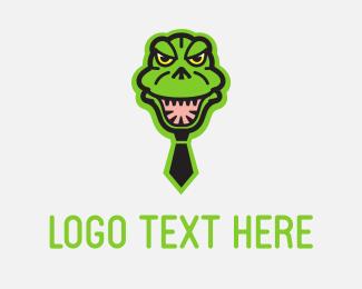 Dinosaur - Godzilla Tie logo design