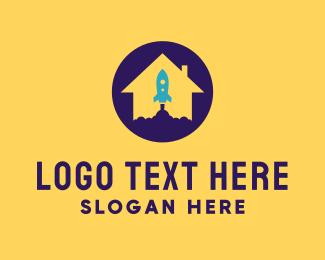 Houston - Rocket House logo design