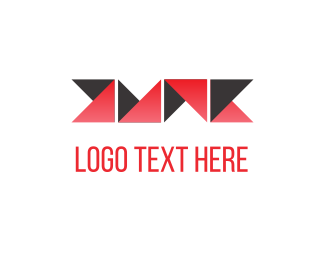 Folding - Folded Red Paper logo design