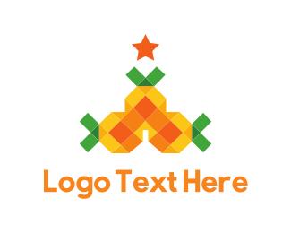 Christmas - Pineapple Tree logo design