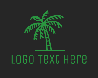 Coconut - Palm Tree logo design