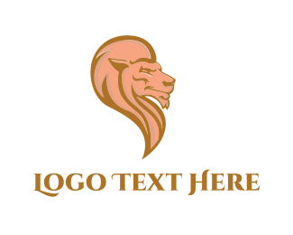 Lion King - Pink Lion logo design