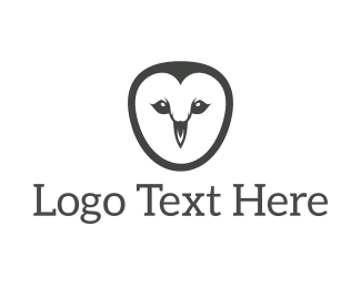 Wise - Simple Owl Face logo design