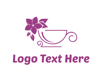 Herbal - Lilac Flower Tea  logo design