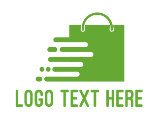 Shop - Green Shopping Bag logo design