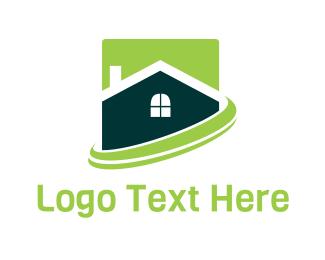 Window - Green Home logo design