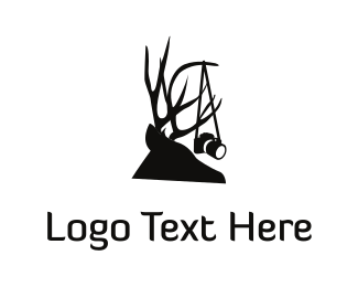 Antlers - Wild Photography  logo design