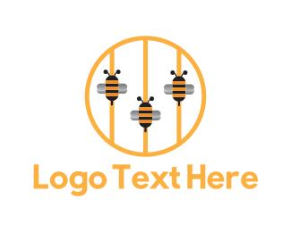 Swarm - Bee Strings logo design