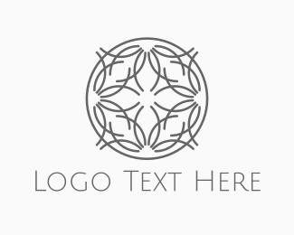 Wellness - Floral Circle logo design