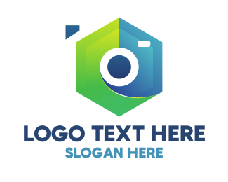 Surveyor - Abstract Hexagon Camera logo design