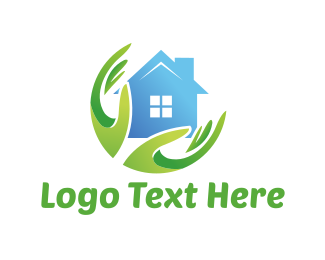 Cleaning - Eco House logo design