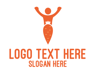 Veggie - Carrot Man logo design