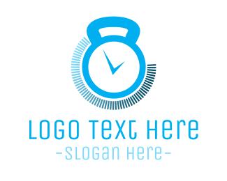 Workout - Gym Timer logo design
