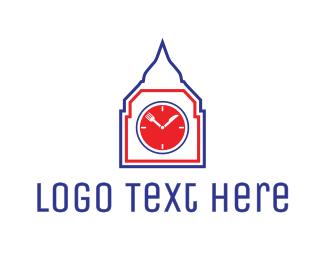 Restaurant Clock Tower Logo
