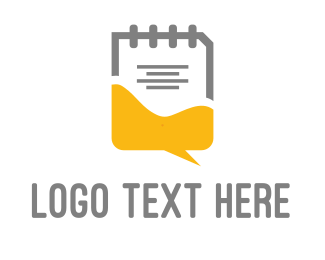 Note - Chat & Notes logo design